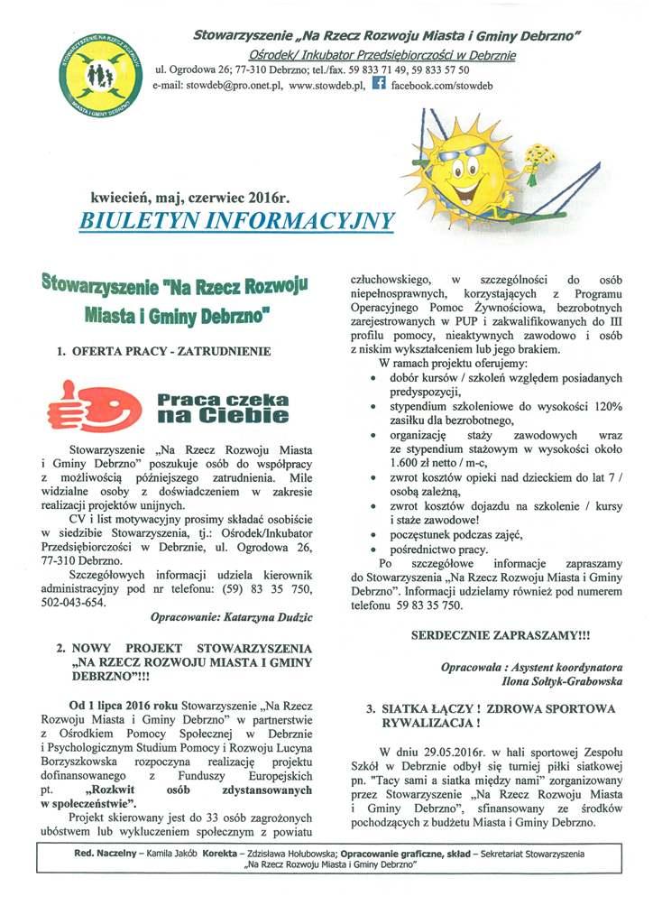 Biuletyn Informacyjny IV-VI 2016
