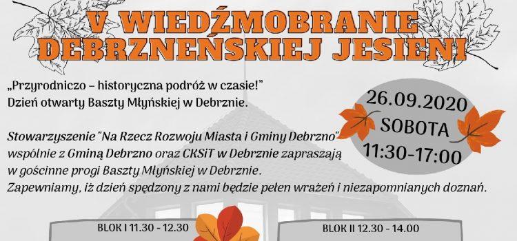 Zapraszamy na DZIEŃ pełen zabaw i wrażeń – 26.09.2020 Dzień otwarty Baszty Młyńskiej!