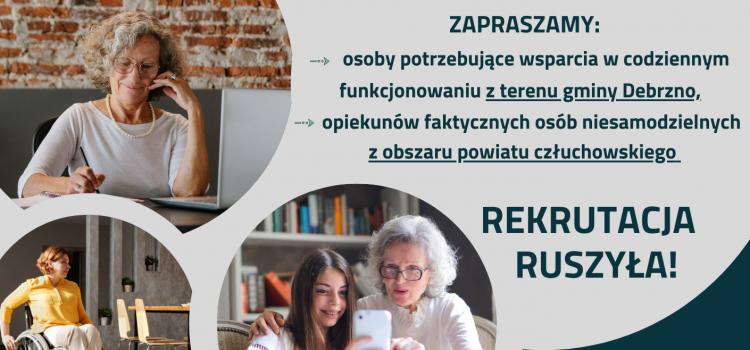 """REKRUTACJA do projektu pn.: """"Klub Wsparcia Dziennego"""" właśnie RUSZYŁA!"""