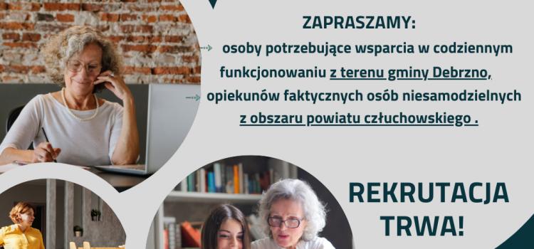 """Rekrutacja do projektu pn.: """"Klub Wsparcia Dziennego"""" wydłużona do 19 lipca! ZAPRASZAMY"""